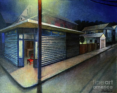 Painting - A Light in the Neighborhood by Mike Chambers