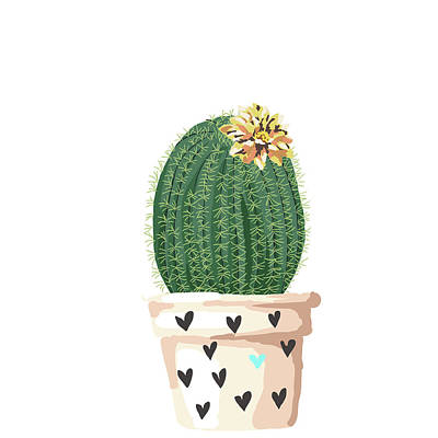 Target Threshold Watercolor - A Loving Cactus by Brandi Fitzgerald