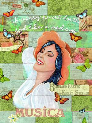 Mixed Media - A Merry Heart by Yobeth Puckett
