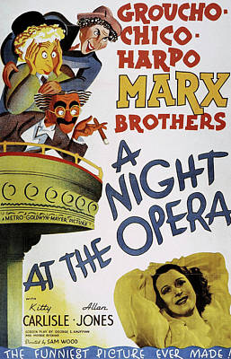 Personalized Name License Plates - A Night At the Opera, with the Marx Brothers, 1935 by Stars on Art