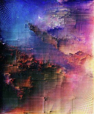 Digital Art - A Night Of Splintering Colour by Jenny Filipetti