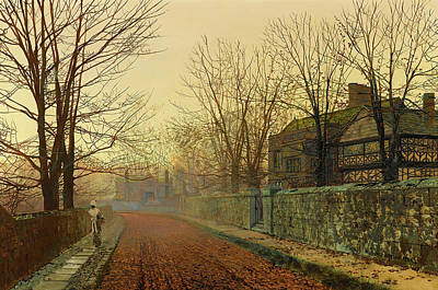 Keith Richards - A November Morning by Atkinson Grimshaw