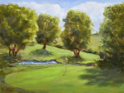 Sports Paintings - A Par Four by Ron Gallant