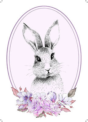 Mixed Media Royalty Free Images - A Perfect Bunny Royalty-Free Image by Brandi Fitzgerald