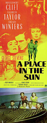 Classic Christmas Movies - A Place in the Sun 2, with Montgomery Clift and Elizabeth Taylor, 1951 by Stars on Art
