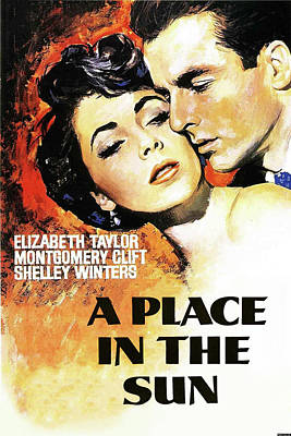 Mixed Media Royalty Free Images - A Place in the Sun movie poster 1951 Royalty-Free Image by Stars on Art