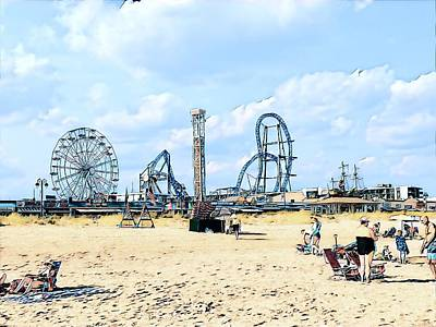 Surrealism Royalty-Free and Rights-Managed Images - A Playland Skyline by Surreal Jersey Shore
