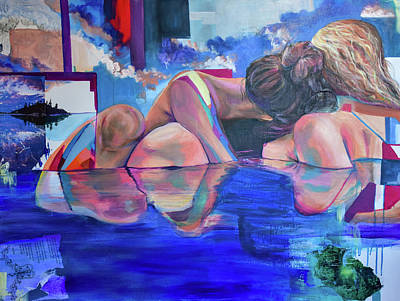 Painting - A Reflection in Her by Christina Carmel