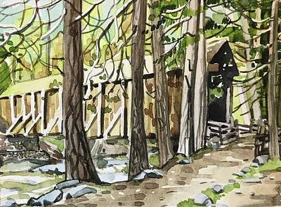 Rolling Stone Magazine Covers - A Rustic old covered Bridge in Wawona. by Luisa Millicent