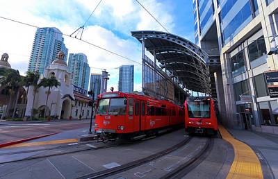 Miles Davis - A Santa Fe Trolley Station, San Diego, CA, USA by Derrick Neill