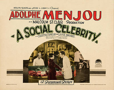 Royalty-Free and Rights-Managed Images - A Social Celebrity, with Adolphe Menjou, 1926 by Stars on Art