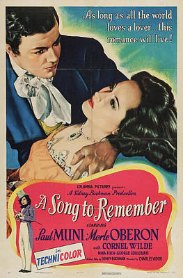 Personalized Name License Plates - A Song to Remember, with Paul Muni and Merle Oberon, 1945 by Stars on Art