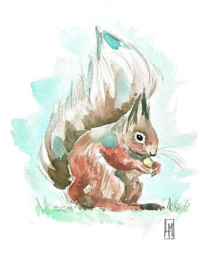 The Champagne Collection - A Squirrel by Luisa Millicent