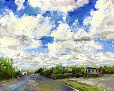 Painting - A Street in New Bern by Bart Levy