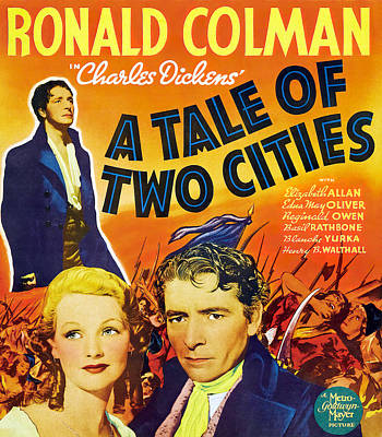Personalized Name License Plates - A Tale of Two Cities, with Ronald Colman, 1935 by Stars on Art