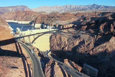 Unicorn Dust - A Tillman Bridge Shadow on Hoover Dam, NV, USA by Derrick Neill