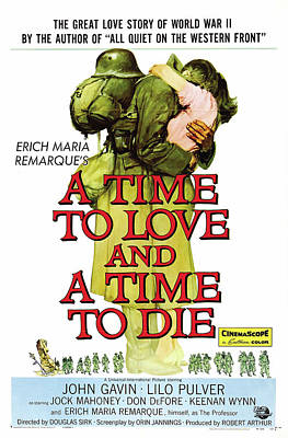 Personalized Name License Plates - A Time to Love and a Time to Die, with John Gavin, 1958 by Stars on Art