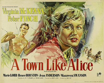 Royalty-Free and Rights-Managed Images - A Town Like Alice poster 1956 by Stars on Art