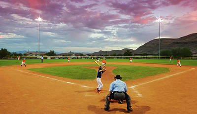 Sports Royalty-Free and Rights-Managed Images - A Twilight Little League Game, Las Vegas, NV, USA by Derrick Neill