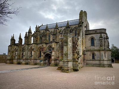 Fantasy Royalty-Free and Rights-Managed Images - A view of Rosslyn Chapel by Douglas Brown