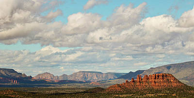 Keith Richards - A View of the Cockscomb Looking West, Sedona, AZ, USA by Derrick Neill
