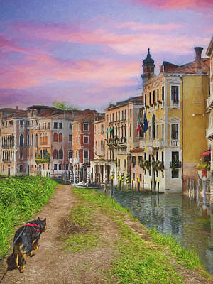 Photograph - A Walk in Venice by Alison Frank