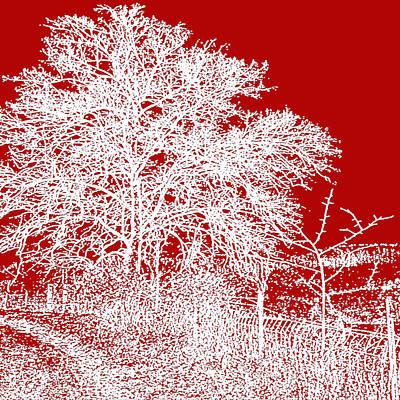 Belinda Landtroop Mixed Media - A Winter Tale in Red by Belinda Landtroop