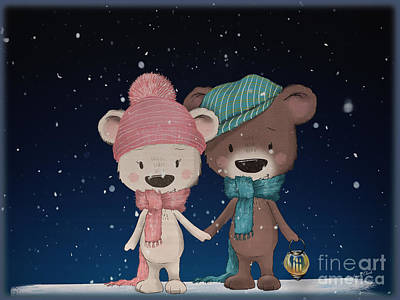 All American - A Winters Evening Walk by Sandra Clark