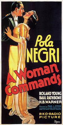 Mixed Media Royalty Free Images - A Woman Commands poster 1932 Royalty-Free Image by Stars on Art