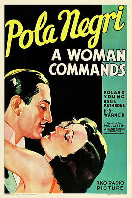 Personalized Name License Plates - A Woman Commands, with Pola Negri and Roland Young, 1932 by Stars on Art