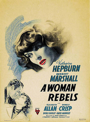 Personalized Name License Plates - A Woman Rebels, with Katharine Hepburn and Herbert Marshall, 1936 by Stars on Art
