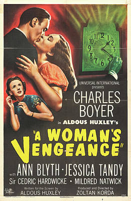 Mixed Media Royalty Free Images - A Womans Vengeance poster 1948 Royalty-Free Image by Stars on Art