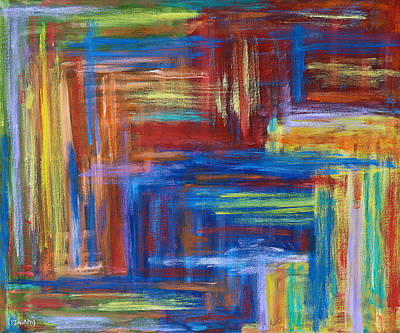 Roaring Red - Abstract 460 by Patrick J Murphy