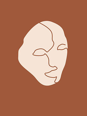 Royalty-Free and Rights-Managed Images - Abandoned Portrait - Minimal, Contemporary Brown Abstract 01 by Studio Grafiikka
