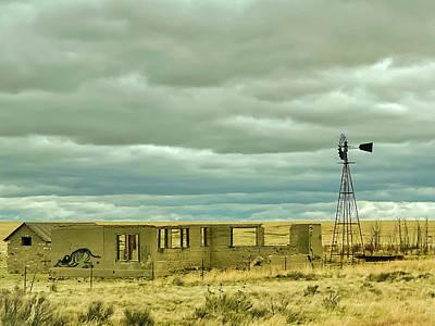 City Scenes - Abandoned West of Clayton New Mexico by Debra Martz