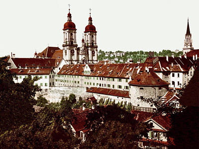 Royalty-Free and Rights-Managed Images - Abbey of Saint Gall, St. Gallen, Switzerland 1890. by Joe Vella