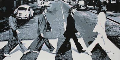 Music Paintings - Abbey Road by Sarah Hood