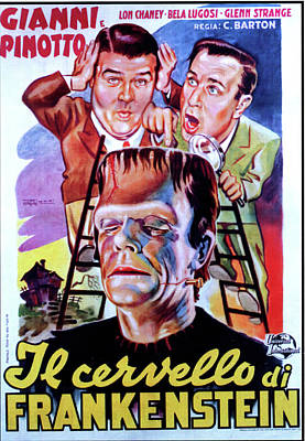 Royalty-Free and Rights-Managed Images - Abbott and Costello Meet Frankenstein, 1948 - 2 by Stars on Art