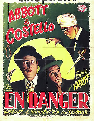 Mixed Media Royalty Free Images - Abbott and Costello Meet the Killer - Boris Karkoff, 1949 Royalty-Free Image by Stars on Art
