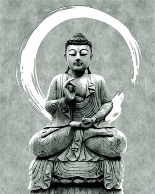 Royalty-Free and Rights-Managed Images - Abhaya Mudra 01 - Buddha in Meditation by Studio Grafiikka