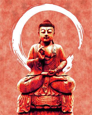 Royalty-Free and Rights-Managed Images - Abhaya Mudra 02 - Buddha in Meditation by Studio Grafiikka