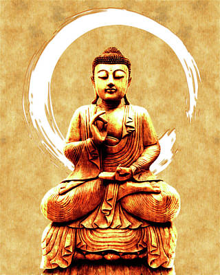 Royalty-Free and Rights-Managed Images - Abhaya Mudra 03 - Buddha in Meditation by Studio Grafiikka