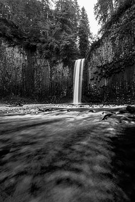 Have A Cupcake - Abiqua Falls Black and White 3 by Pelo Blanco Photo