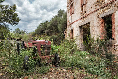 Impressionist Landscapes - Abondoned tractor at Argentella silver mine by Jon Ingall