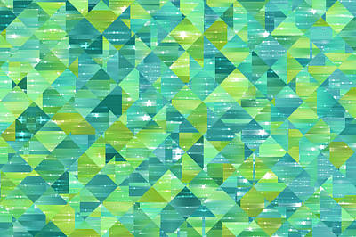Royalty-Free and Rights-Managed Images - Abstract Background. Green Mosaic by Julien