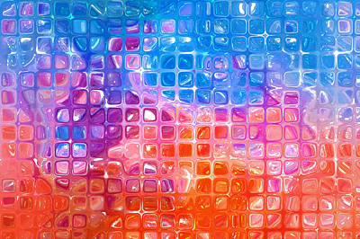 Royalty-Free and Rights-Managed Images - Abstract Background. Multicolored Mosaic by Julien
