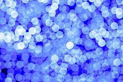 Royalty-Free and Rights-Managed Images - Abstract blue colors light bokeh. Classic blue background texture.  by Julien
