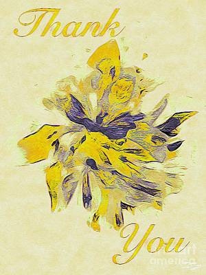 Caravaggio - Abstract Botanical Greeting Card Collection 0014 by Douglas Brown