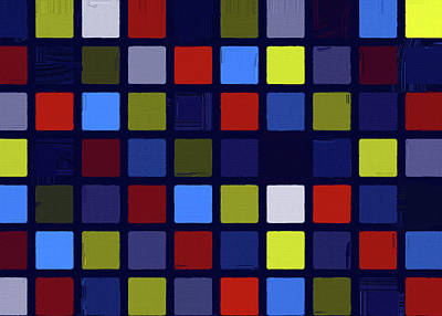 Caravaggio - Abstract Color Composition No 0953 2021 by Ahmet Asar by Celestial Images