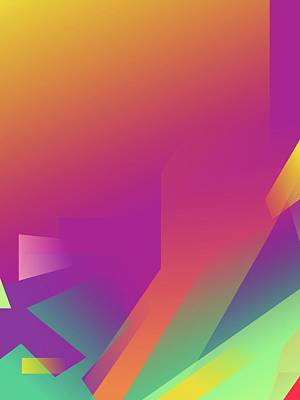 Royalty-Free and Rights-Managed Images - Abstract Colorful Gradient Pop Art 140 by Ahmad Nusyirwan